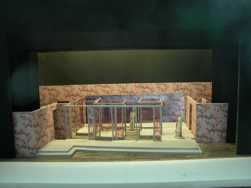 maquette du décor du Jeu de l'Amour et du Hasard de Marivaux